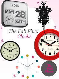 the fab five clocks u2014 the pink house