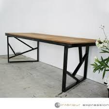 bureau en acier table de travail en chêne et acier de g desmet chez intérieur