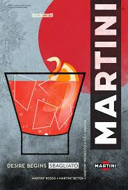 martini rosso martini illustrated cocktail poster series on behance