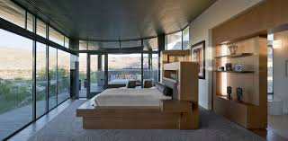 Modern Home Design Las Vegas Bedroom Glass Walls Hill Views Massive Modern Home In Las Vegas