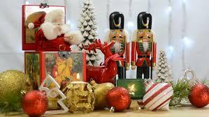 festive decorations centerpiece still with reindeer
