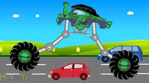 monster trucks videos on youtube hulk super monster truck thomas train vs batman kids video