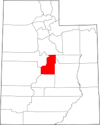 Map Of Utah by File Map Of Utah Highlighting Sanpete County Svg Wikimedia Commons