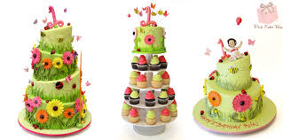 riya u0027s 1st birthday garden themed cake birthday cakes