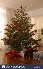 living room christmas tree gifts teddy bear illumination gift