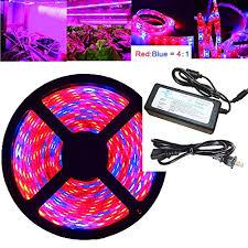 12v dc led grow lights oueva 16 4ft 5m plant light strip 5050 waterproof grow light full