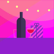 wine bottle svg lorem ipsum illustration