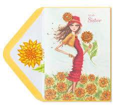 bella pilar fashion for sister family birthday cards