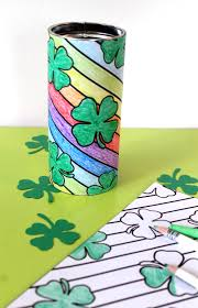 punk projects st patrick u0027s day coloring page pirouline tin