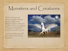 greek mythology by sydney t monsters and creatures some