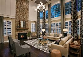 Toll Brothers Elkton South Shore TwoStory Family Room Drapery - Two story family room