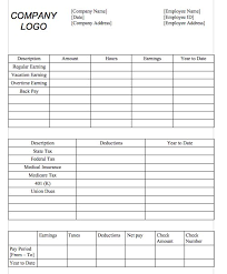 29 great pay slip paycheck stub templates u2013 free template downloads