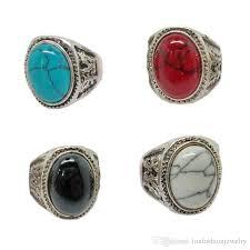 silver rings vintage images 2018 vintage gemstone rings vintage charm oval turquoise antique jpg