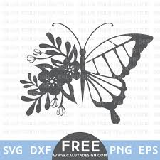 flower butterfly free svg png eps u0026 dxf download by caluya design