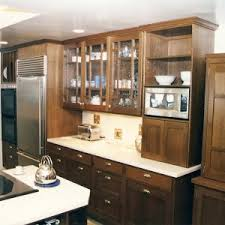 Wall Mounted Cabinet With Glass Doors by Classy Brown Color Wooden Kitchen Cabinets Featuring Wall Mounted