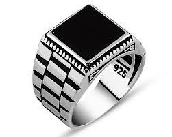 black stone rings images Black square onyx stone 925 sterling silver men 39 s ring zenn stone jpg