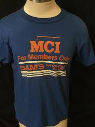 vintage 1980 u0027s sam u0027s club members only t shirt vintage walmart 50