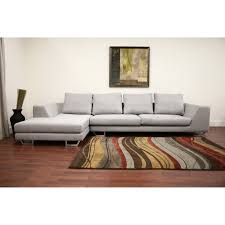 Gray Sectional Sofa With Chaise Lounge by Baxton Studio Gray Twill Sectional Sofa Hayneedle