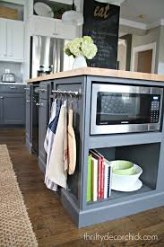 Kitchen Island Makeover Microwave In The Island Finally From Thrifty Decor