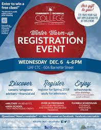 uaf community technical college event december 6 winter warm