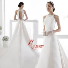 simple affordable wedding dresses tw158 halter simple cheap fashionable plus size backless