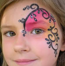 simple halloween face painting