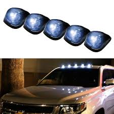 ford f250 cab lights kit ijdmtoy 5pcs black smoked led cab roof top marker running ls with