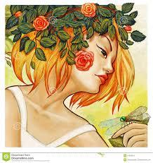 imagenes artisticas ejemplos ejemplo artístico del estilo moderno de la mujer joven stock de