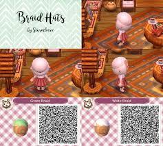 animal crossing new leaf qr code cute braided hair braid hat
