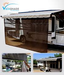 Awning Screen Panels Rv Awning Screen Shades Keep Cool With A Vista Shade