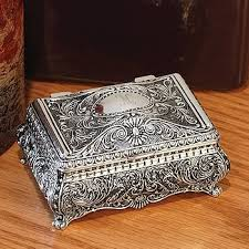 jewelry box favors silver ornate jewelry box foreverwed supply co