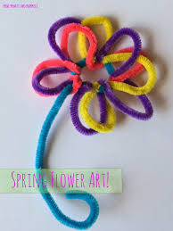 mini monets and mommies kids u0027 spring flower craft with pipe cleaners