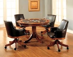 Accessories Foxy Park View Medium Brown Oak Game Table And Four
