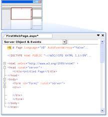 design web form in visual studio 2010 walkthrough creating a basic web forms page in visual studio