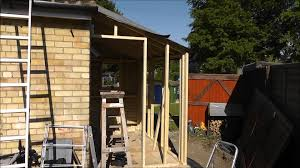 building a lean to utility room project wmv youtube
