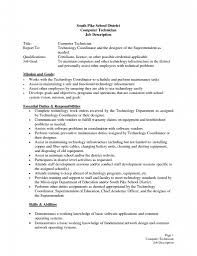cover letter help desk technician job description sample help desk