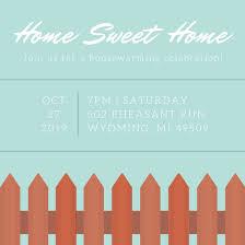 housewarming invitation template home sweet home housewarming