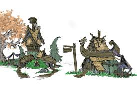 udk stylized viking village u2014 polycount