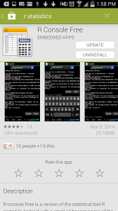 r for android r statistical package for android a personal experience of