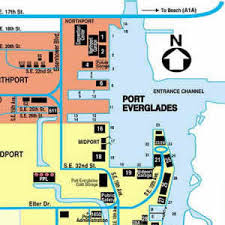 map of ft lauderdale directions to port everglades map and port map of fort