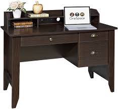Espresso Reception Desk Amazon Com Onespace 50 1617 Executive Desk With Hutch Usb And