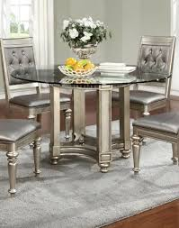 Silver Dining Chairs Dining Furniture Steve Silver Hartford 72 Round Contemporary