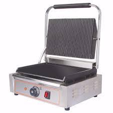 Toaster Machine New Heavy Duty Electric Ribbed U0026 Flat Plates Panini Sandwich
