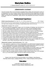 Chrono Functional Resume Sample by Functional Resume Template For Administrative Assistant Word S