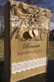 rustic wedding album rustic wedding photo album burlap lace photo by burlapcreationsnc