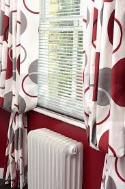 Patterned Curtains And Drapes White Red Curtains Cushions N Curtains Pinterest Photo