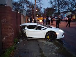 lamborghini splits in half during brooklyn car crash video