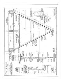 Frame House Free A Frame Cabin Plans Blueprints Construction Documents Sds