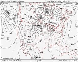 Barometric Pressure Map Isobars