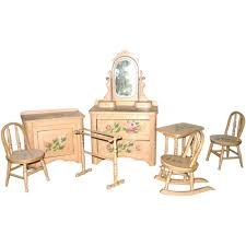 Cottage Bedroom Furniture Victorian 8 Piece Painted Cottage Doll Bedroom Furniture Set From